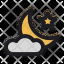 Crescent Moon Lunar Icon
