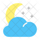 Crescent Moon Weather Weather Forecast Icon