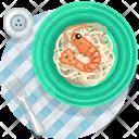 Crevette Meal Restaurant Icon