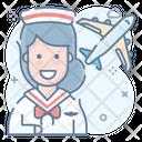Crew Air Hostess Squad Icon