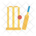 Cricket Wicket Bat Icon