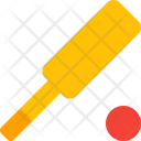 Cricket Ball Bat Icon