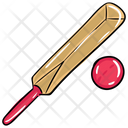 Bat Ball Cricket Equipment Cricket Icon