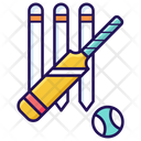 Bat Ball Cricket Equipment Cricket Tool Icon