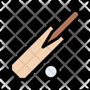 Cricket Bat Ball Icon