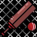 Cricket Cricket Bat Cricket Ball Icon