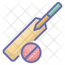 Bat Ball Cricket Equipment Icon