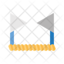 Boundary Flag Connected Icon