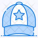 Cricket Cap Headpiece Headwear Icon