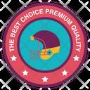 Cricket Helmet Badge Icon