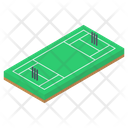 Cricket Pitch Playground Play Area Icon