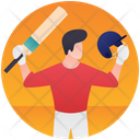 Cricket Player Olympic Sports Olympic Game Icon