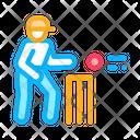 Ball Player Cricket Icon