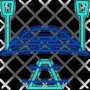 Cricket Stadium Pitch Icon