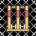 Cricket Stumps Icon