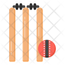 Stump Wicket Sports Equipment Cricket Wicket Icon