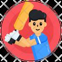 Sportsman Sportsperson Cricket Player Icon