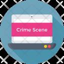 Crime Scene Laptop Icon