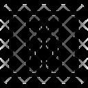 Criminal Imprisoned Jail Icon