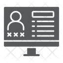 Criminal Database Data Icon