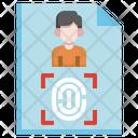 Criminal Fingerprint Fingerprints Identification Icon
