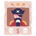 Pirate Wanted Poster Icon