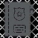 Criminal Record Note Icon