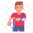 Crippled Disable Person Patient Icon