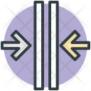 Crisscross Arrows Intersect Icon
