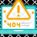 Critical Error Warning Laptop Icon