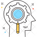 Critical Thinking Magnifier Icon