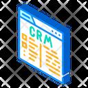 Crm System Isometric Icon