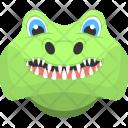 Crocodile Face Teeth Icon