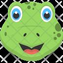 Baby Crocodile Face Icon
