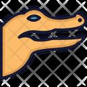 Crocodile Crocodylidae Large Reptile Icon