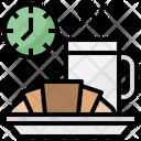 Croissant Coffee Mug Kitchenware Icon