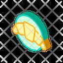 Croissant Dessert Isometric Icon