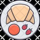 Croissant Jam Strawberry Icon