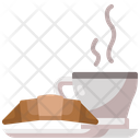 Croissant And Coffee Breakfast Bakery Icon