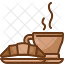 Croissant And Coffee Icon