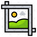 Graphics Tool Crop Tool Picture Editing Icon