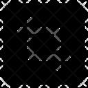Crop Symbol Editing Art Tool Icon