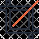 Crop Cut Design Icon