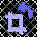 Crop Rotate Design Icon