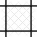 Crop Lines Grid Icon