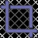 Crop Tool Development Icon