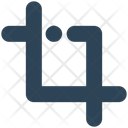 Sign Crop Tool Icon