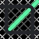 Crop Design Illustration Icon