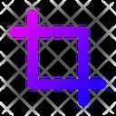 Crop Cropping Cut Icon
