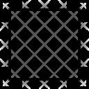 Crop Elements Cut Icon